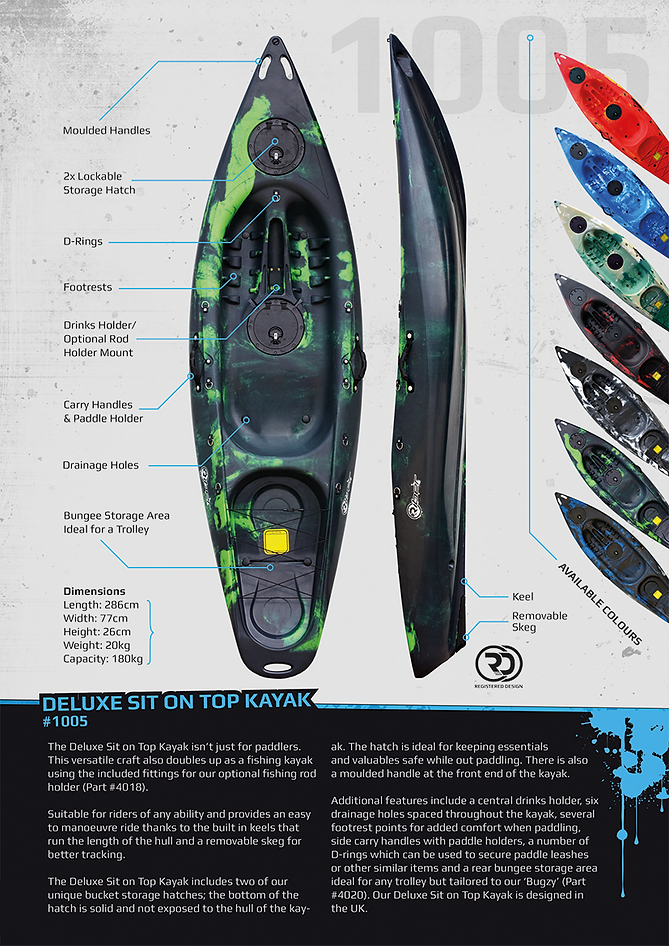 Riber 1005 Deluxe Sit On Top Kayak