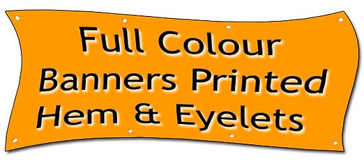 Banners Full colour Printed
