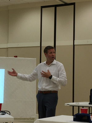 Ryan Stein spoke at our September meeting.
