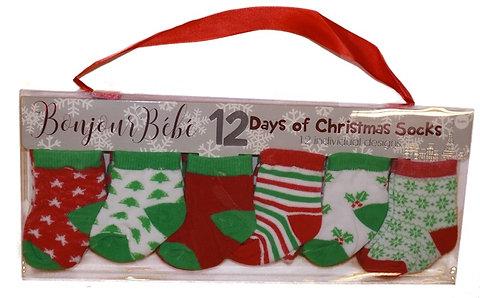 12 Days Of Christmas Socks.Baby 12 Days Of Christmas Socks 0 6mths Christmas Gift Store