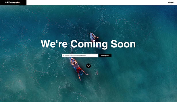 Coming Soon website templates – Photography Coming Soon