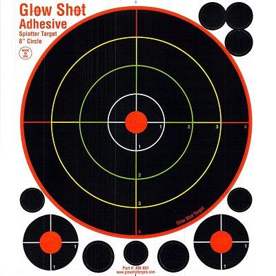 """Glow Shot 8"""" adhesive target"""