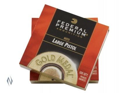 Federal Gold Medal Large Pistol Primers x100