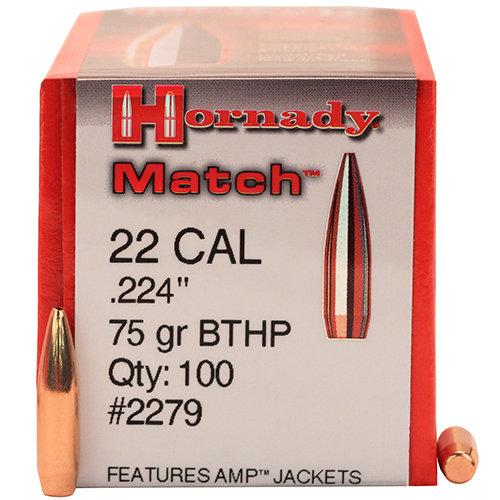 Hornady .22 cal .224 75gr BTHP Match