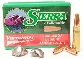 Sierra 30 cal 135gr Hollow Point 100pk