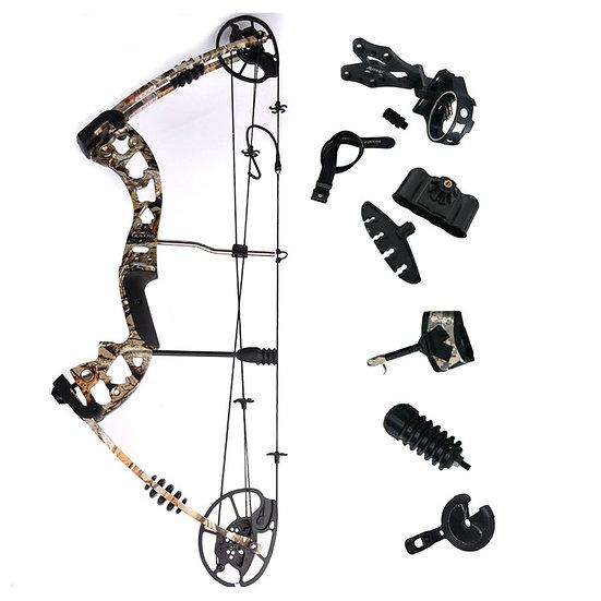 Fox Four Compound Bow Black 30-70lbs