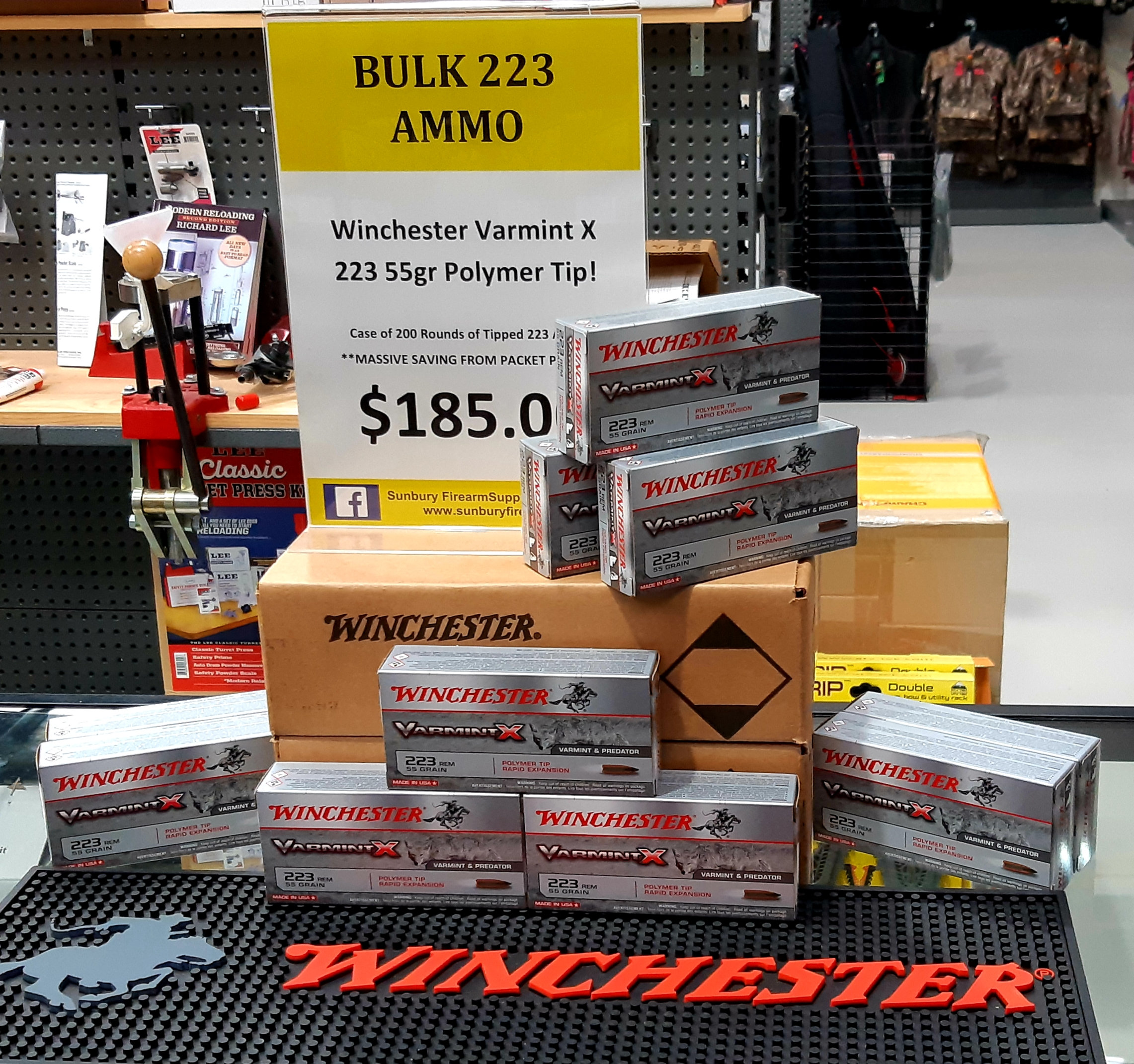 Winchester Varmint X  223 55gr Bulk Ammo