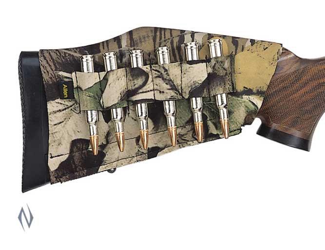 Allen Rifle Buttstock 6 Shell Holder Camo AL20123