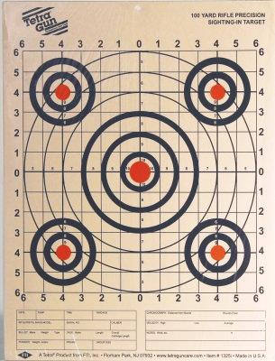 Tetra 100 yard small bore target