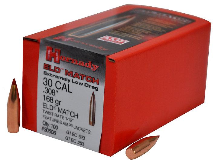 Hornady .30 Cal 168gr ELD 100pk