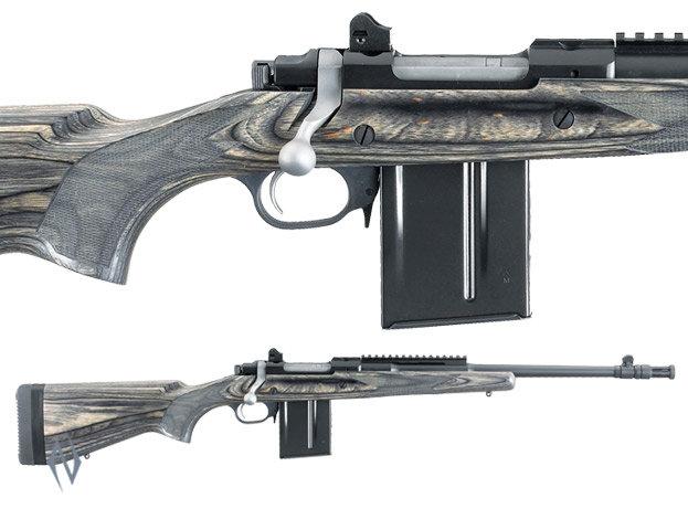 """Ruger 77 Gunsite Scout .308 Blue 16.5"""" Flash"""