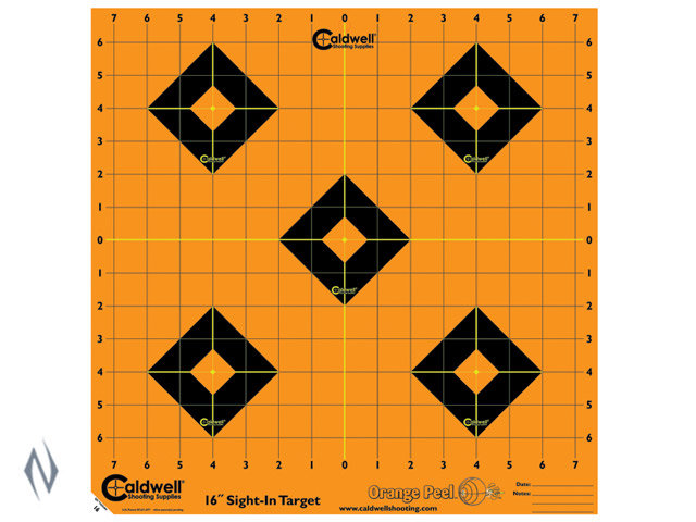 "Caldwell Orange Peel Bullseye 12"" 5 pack"