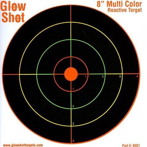 """Glow Shot Hard Card 8"""" Target"""