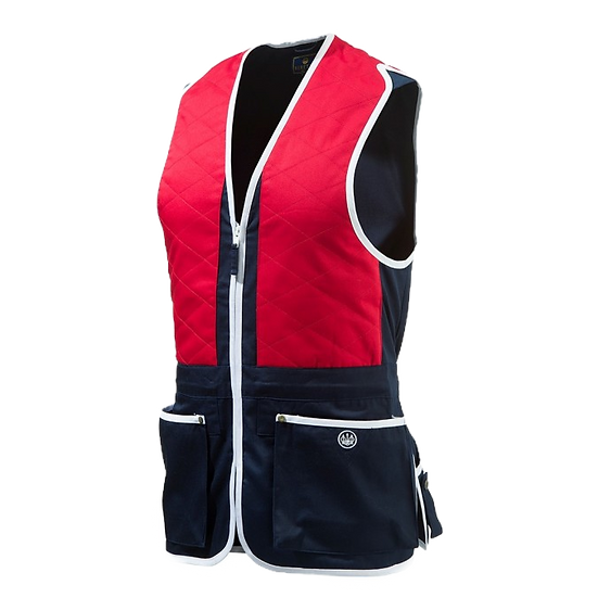 Beretta Trap Cotton Vest Red - Unisex