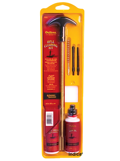 Outers Rifle Cleaning Kit Steel Rod 17, 204Cal