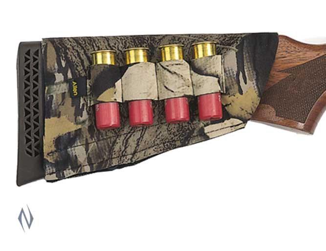 Allen Shotgun Buttstock 4 Shell Holder Camo AL20143