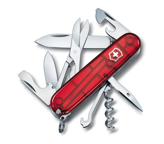 Swiss Army Climber Multi tool Red Translucent