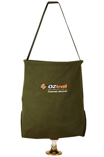 Oztrail Canvas Shower Bucket & Rose 20L