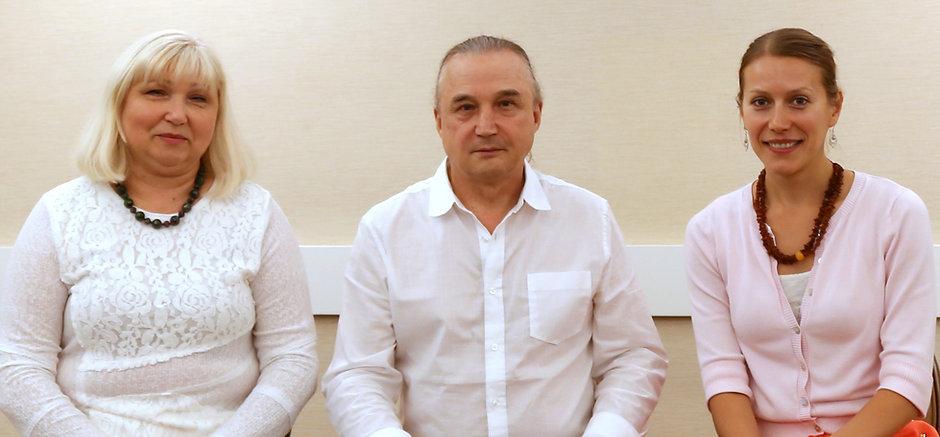 Tetyana Zinchenko, Emil Bagirov and Maria Asadov in Los Angeles, CA, October, 2015.
