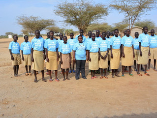 The Children in Their New Maggie's School T-Shirts!