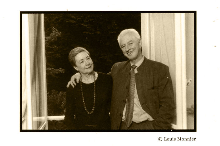 Marie-Claire Bancquart et Alain Bancquart par Louis Monnier