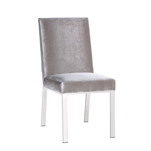 Excella Emiliano Grey Velvet Dining Chair