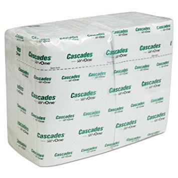 Cascades Servone White Dispenser Napkin 6048ct.