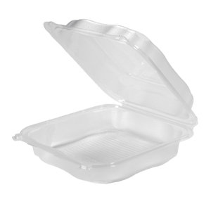 "Hinged Foam Container, White 8""X8""X3"" 150/Case"