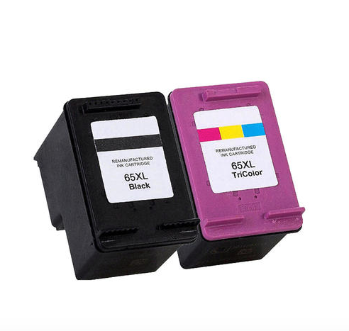 Earth Toner Remanufactured HP 65XL Black and Color Ink Cartridge Combo High