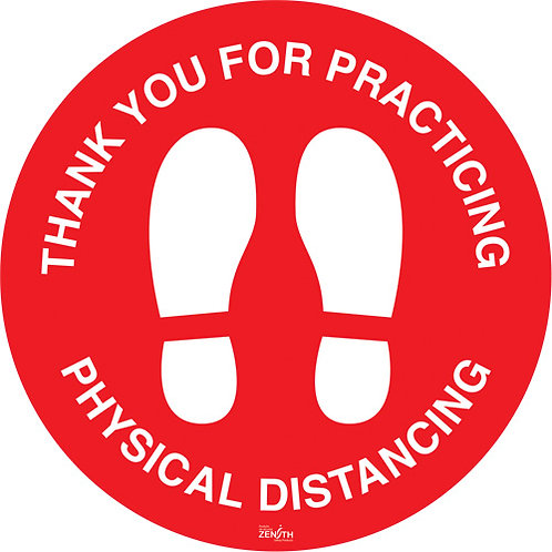 """""""Physical Distancing"""" Floor Sign"""