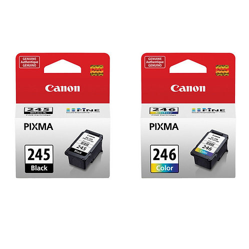 Canon PG-245XL/CL-246XL Ink Cartridges, Black and Colour, 2 Pack