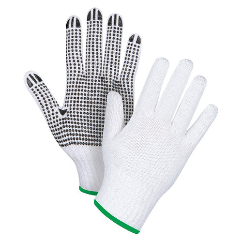 Dotted Knit Gloves Size: Medium