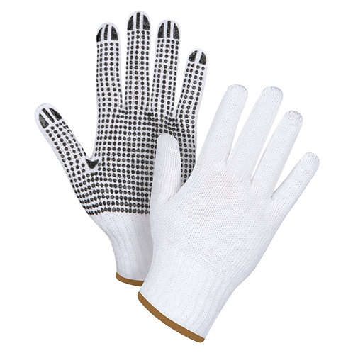 Dotted Knit Gloves Size: Large
