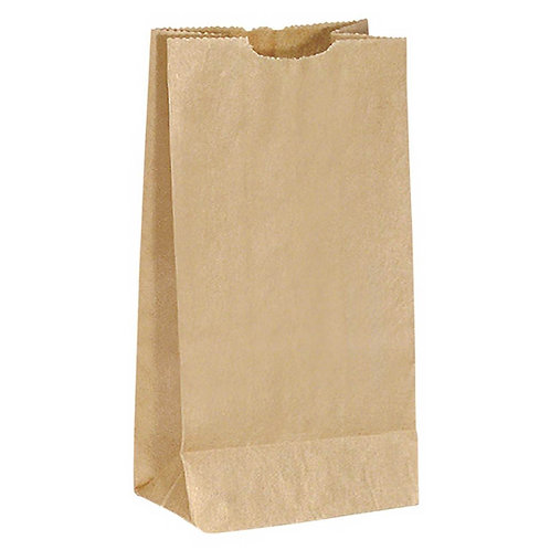 Kraft Paper Brown Bags 6lb 500/pk.