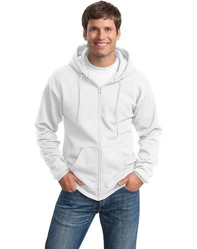 Custom Printed Port & Company Full-Zip Hooded Sweatshirt 7.8-oz