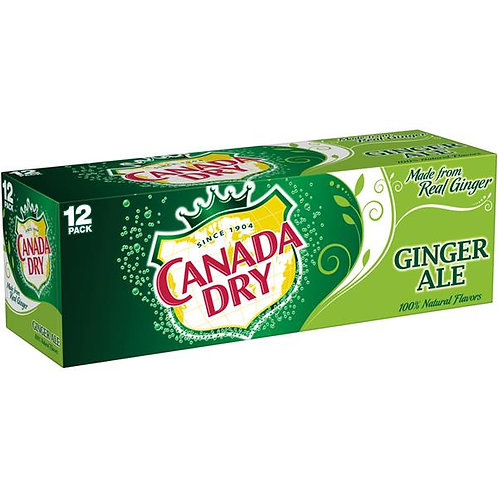 Canada Dry Ginger Ale (355ml Can 12/case)