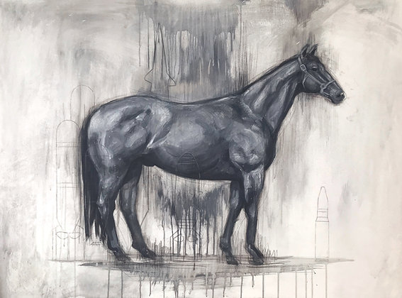 Study of a War Horse with Arsenal