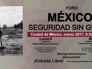 Eduardo Salcedo-Albarán and Luis Jorge Garay at the forum Mexico: Security Without War