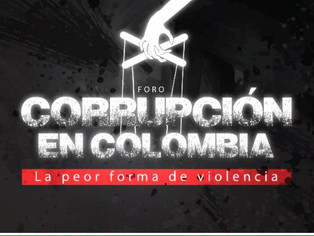"""Eduardo Salcedo-Albarán at the forum: """"Corruption in Colombia: the worst form of violence"""""""