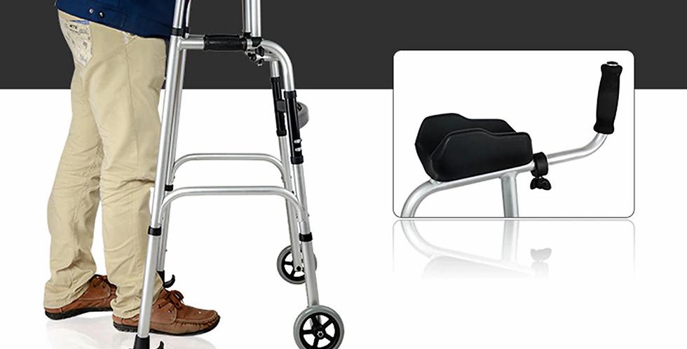 2 Wheels Folding Rollator Walker with Armrests