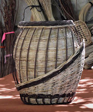 A One of a Kind Decorative Basket from Local Weaving Materials