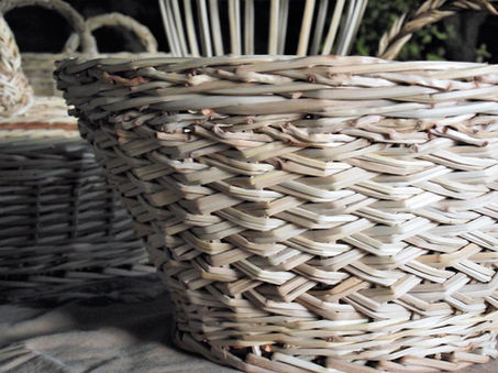 A Small Basket Woven in the Two-Way French Randing Technique