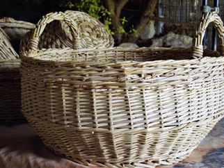 Classic Round Basket with Decorative Handles