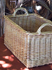 Square Willow Basket with Special Side Handles
