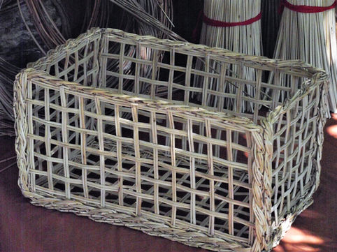 A Unique Square Basket design from Five Separate Woven Bases