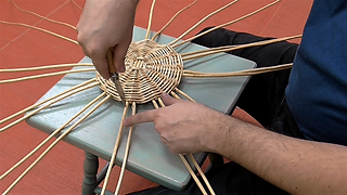 Willow Basketry: Staking Up - Adding uprights to the base