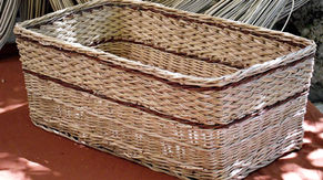 Large Square Basket from Local Weaving Materials