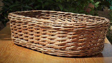 Classic Oval Basket from Mastic Tree Branches