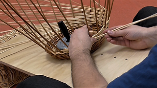 Willow weaving techniques - French randing 2