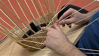 Willow weaving techniques - French randing 1
